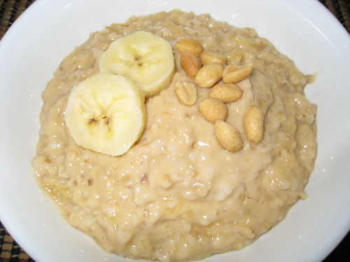 banana-and-peanut-butter-oatmeal